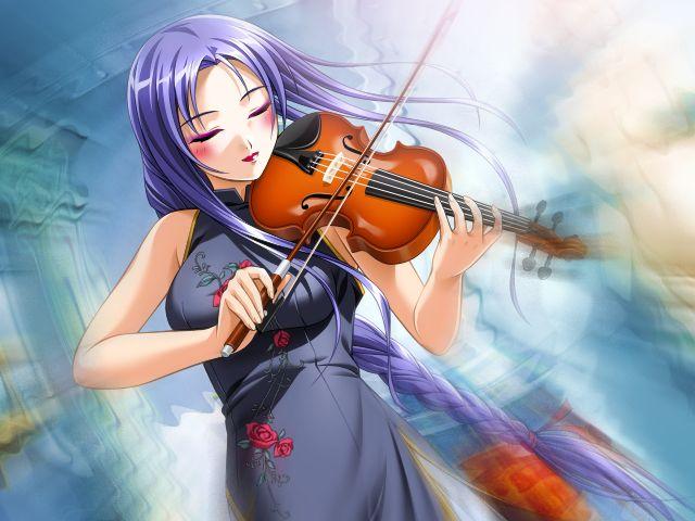manga jouant du violon